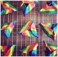 Rainbow-hamantashen