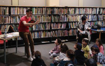 Simon Boulerice en visite à Akiva – 15-12-2015