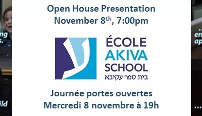 Akiva Open House November 8th 2017