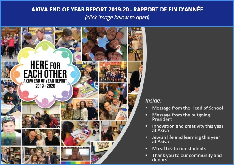 Akiva School End of Year Report 2019-20